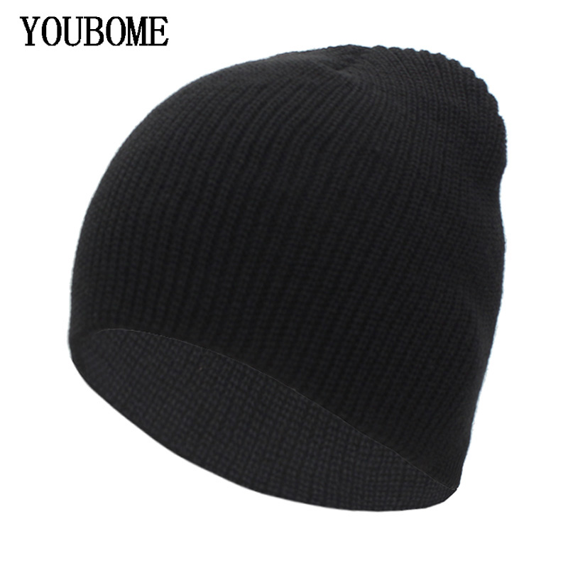 YOUBOME Fashion Autumn Knitted Hat Winter Hats For Women   Skullies     Beanies   Men Winter   Beanie   Gorros Bonnet Male Warm New Hat Cap