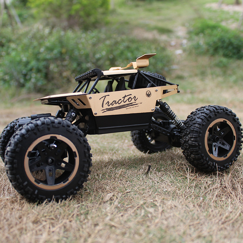 Topekia 1:18 RC Car 4WD 2.4GHz Rock climbing Car 4x4 Double Motors Bigfoot Car Remote Control Model Off-Road Vehicle Toy