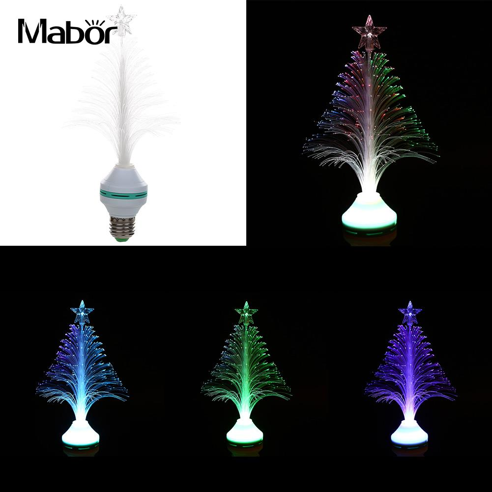 E27 LED RGB Color Changing Fiber Optical Christmas Tree Light Lamp Lamp Light Night Home Decorations LED Desk Decor icoco usb rechargeable led magnetic foldable wooden book lamp night light desk lamp for christmas gift home decor s m l size