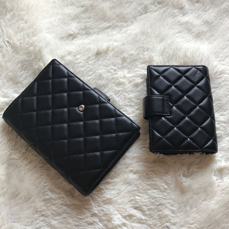 Yiwi A6 A7 noir 100% en peau de mouton véritable cuir carnet planificateur à la main voyage balle Journal Agenda carnet de croquis Journal Vintage