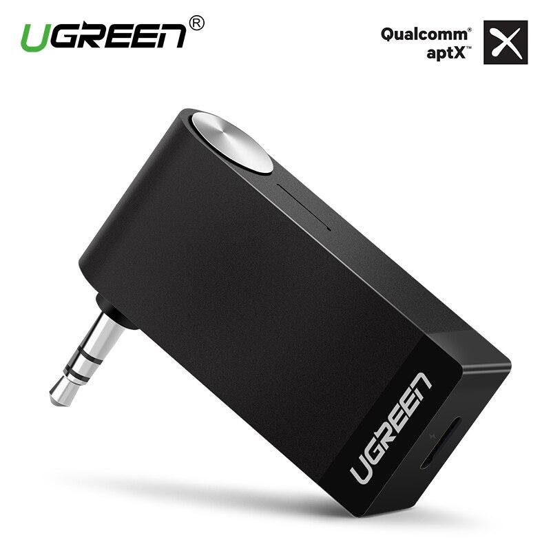 Ugreen Bluetooth Empfänger 3,5mm Klinke Bluetooth Audio Musik Wireless Receiver Adapter Auto Aux Kabel Frei für Lautsprecher Kopfhörer