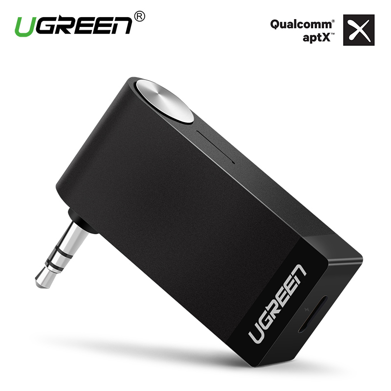 Ugreen Bluetooth Receiver 3.5mm Jack Audio Bluetooth Wireless Music Receiver Adapter Cable Car Aux Spedizione per Cuffie Speaker