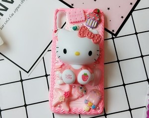 Image 5 - New For iphone  8/ 7 plus DIY case 3D KT cat phone cover for iphone 7 /6 6s plus handmade candy case girl gift for iphone X