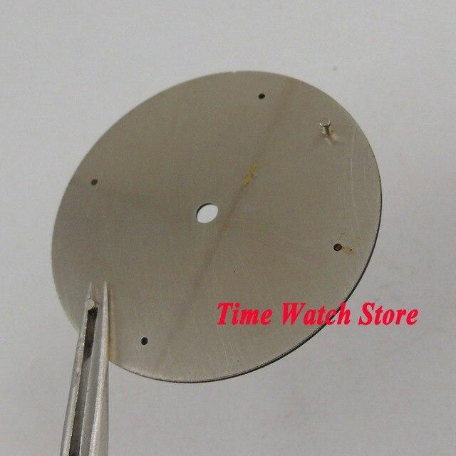 37.5mm bez logo czarny kalifornii tarcza pasuje do mechanicznego ETA 6497 zegarek z czujnikiem ruchu tarcza + wskazówki D132