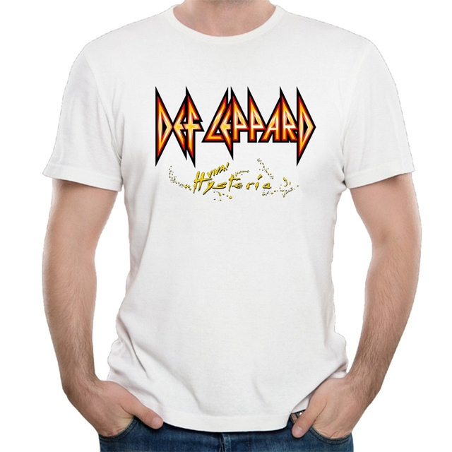 f3dcf433 Antidazzle Brand UK Heavy Metal Rock Band Def Leppard T-Shirt Def Leppard  Poison Tesla 2017 Concert Tee T Shirts Tops tee