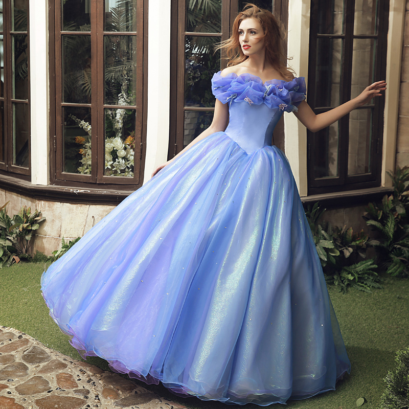 Popular Ball Gown Bateau Neck with Sleeves Ruched Bow Organza Blue Vestidos Hot Selling Quincenera Dresses Cheap