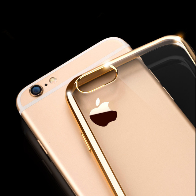 Soft Transparent TPU Cases for iPhone 5s Case 6 6s 7 Plus Luxury Silicone Cover Coque for iPhone 6S Case 6 Plus Phone Cases
