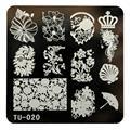 2016 Hot Sale DIY Nail Art Image Stamp Stamping Plates Manicure Template TU-020 unha placa de imagem Free Shipping Yo SY