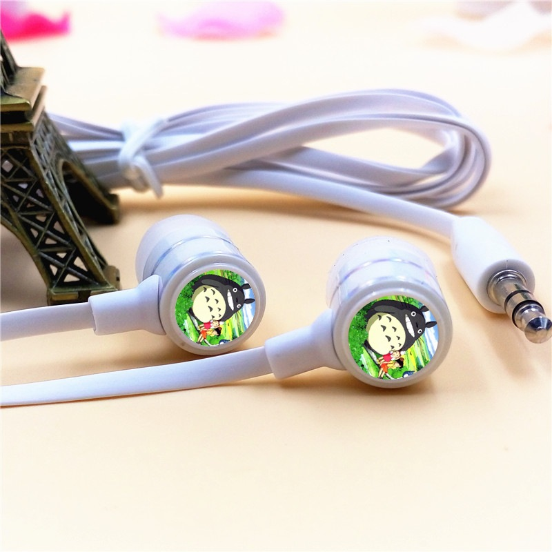 Anime My Neighbor Totoro In-ear Earphone 3.5mm Stereo Earbud Microphone Phone Music Game Headset for Iphone Samsung Xiaomi MP3 mllse anime fairy tail cartoon in ear earphone portable aux wired stereo earbuds sport mic headset for iphone samsung xiaomi mp3