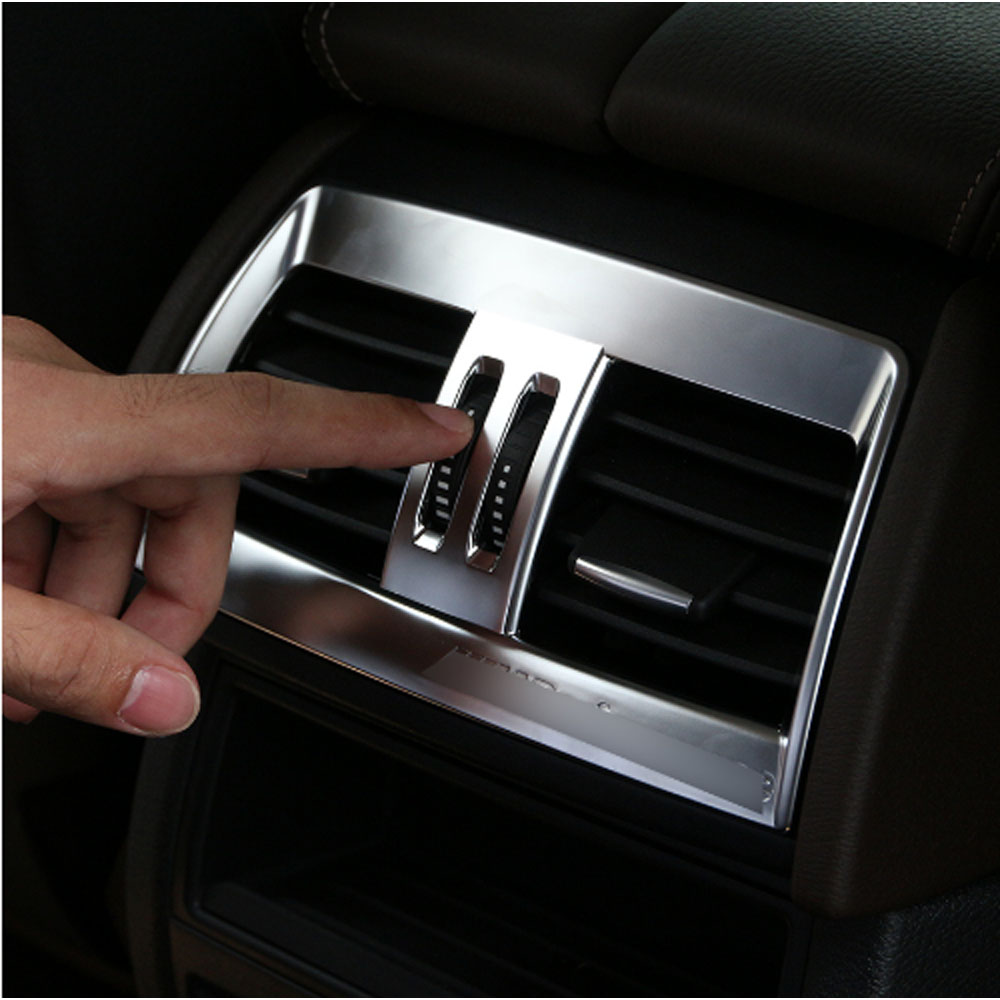ABS Chrome Rear Air Conditioning Outlet Vent Cover Trim For BMW X5 X6 F15 F16 2014