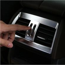 ABS Chrome сзади кондиционер на выходе Vent Накладка для BMW X5 X6 F15 F16 2014 2015 2016 2017 автомобилей аксессуары