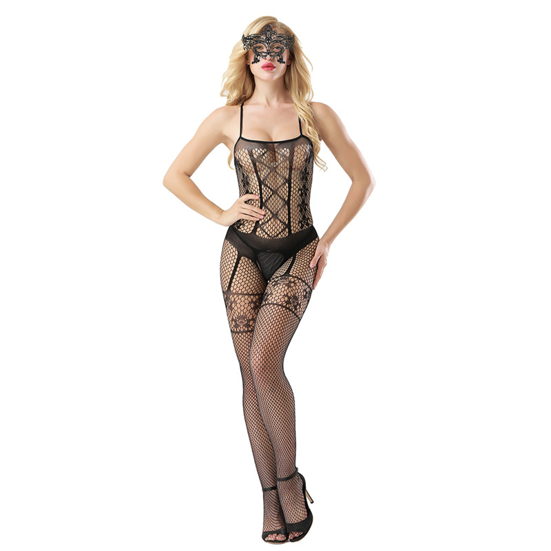 HOT Open Crotch Fishnet Bodystocking Sexy Erotic Lingerie Clothes Teddies Body Suits Crotchless Bodysuit Wear 188