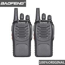 2PCS 100% מקורי Baofeng bf 888S מכשיר קשר נייד רדיו מלון Communicator כף יד משדר Cb רדיו BF 888S תחנה