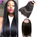 360 Lace Frontal Closure With Bundles Brazilian Straight Hair With Closure 360 Virgin Brazilian Virgin Hair With Lace Frontal