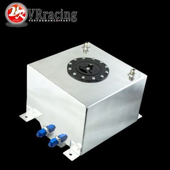 VR RACING-tanque de combustible de aluminio de 20L con tapa/espuma interior espejo pulido celda de combustible sin sensor VR-TK14