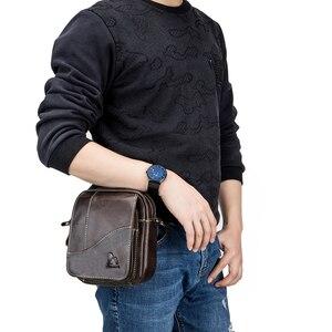Image 5 - 2019 الرجال حقائب اليد العصرية جلد طبيعي الذكور حقيبة ساع رجل Crossbody حقيبة كتف حقائب السفر للرجال هدايا للأب