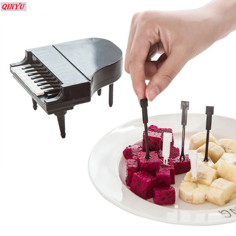Style Cake Tableware For Party Wedding Fruit Fork Food Picks Fruit Toothpick