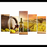 Child Room Decoration Nordic Modular Pictures Home Decor Grapes And Wines 5 Piece Canvas Art Movie