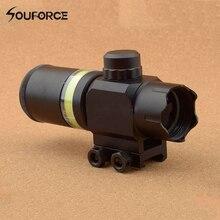 Taktische Zielfernrohr 2×28 Grün Optical Fiber Dot Sight Zielfernrohr Jagd Schießen für 20mm Weber Picatinny Schiene montieren
