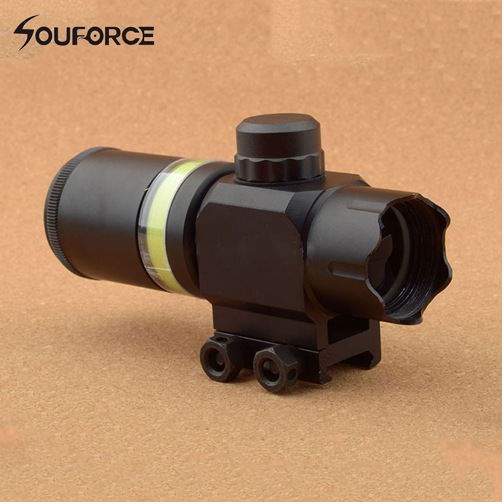 Tactical Rifle Scope 2x28 Green Optical Fiber Dot Sight Riflescope Hunting Shooting for 20mm Weaver Picatinny Rail Mount rockdale 3515