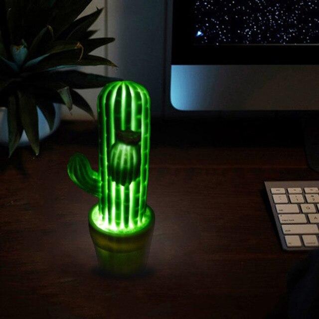 Innovative Grün Kaktus Led Nachtlicht Kinder Led Lampen Für Urlaub Nehmen  Requisiten Home Wohnzimmer
