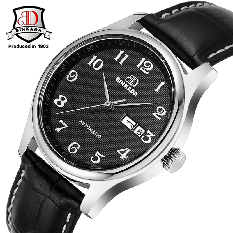 Top Men Watches 2017 BINKADA Brand Waterproof Automatic Mechanical Watch Men Business Classic Luxury Wristwatches Simple Design new business watches men top quality automatic men watch factory shop free shipping wrg8053m4t2