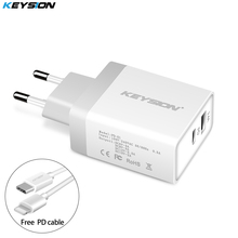 KEYSION 30W USB PD Charger Fast Type C Power 2 Ports Travel Wall Quick Chargers for iPhone X 8 Plus New Macbook EU/US