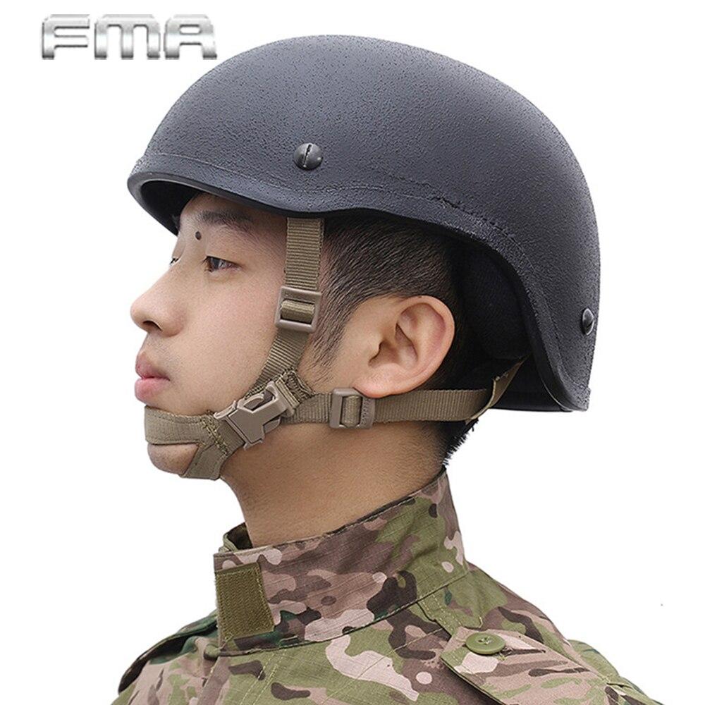 FMA Helmet Strap General Suspension System X-Nape Adjustable Lanyards Padded Protector Leather One Handed Chin Helmet Sling