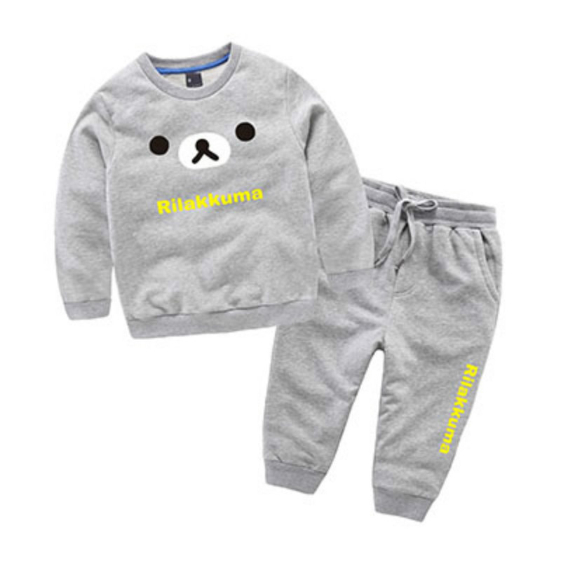Boys Bear Pattern Clothing sets Sweat suits Spring Outfits Jersey Sports Hip hop Clothes for Kid Chinese Manufactory 3 4 5 6 7 T