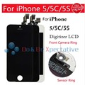 For iPhone 5S 5C 5 LCD Display Touch Screen Digitizer Assembly LCD Foam Touch Foam Front Camera Ring Sensor Frame No Dead Pixel