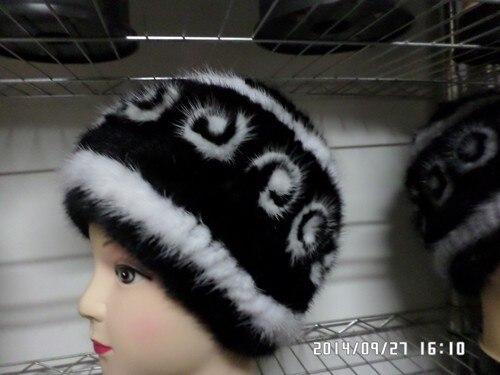 2014 натуральный мех норки cap hat женщины винер природных