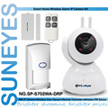 SunEyes SP-S702WA-DRP 720 P HD Cámara IP Inalámbrica de Alarma Kit con 1 unids Sensor de Puerta + 1 unids control remoto + 1 unids Sensor PIR