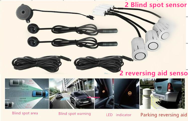 Car Blind Spot Radar Detection Rear View visible Monitor Sensor Safety System w 2 blind spot