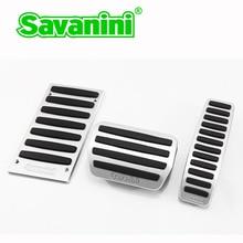 Savanini Автомобильный ножной коврик газ и педаль тормоза для Porsche Cayenne/Volkswagen Touareg/Audi Q7 авто без бурения! Алюминий сплав