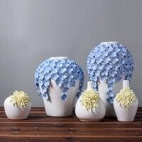 Europe Brief Matt Diamond Porcelain Vase Modern Fashion Ceramic Flower Vase Room Study Hallway Home Wedding Decoration