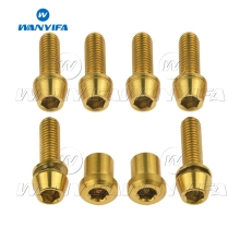 Wanyifa Titanium Bolts M5x16 18mm Lock On Stem Screw for 3T ARX LTD Mountain/Road Bike Ti Screws Upgrade Kit