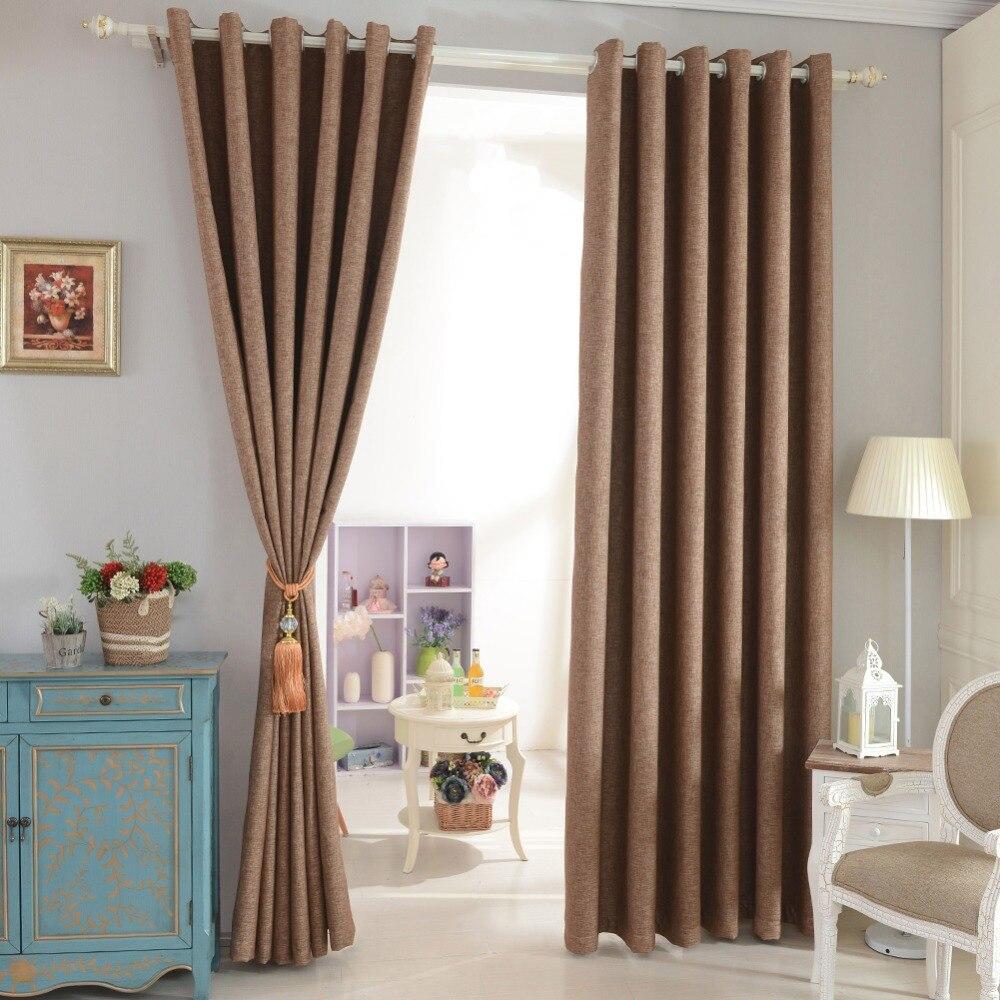Cortinas Blackout faux linho cortinas de janela apagão cortina sombra total cortina moderna para o quarto sala de tratamentos de janela