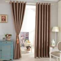 Cortinas opacas cortinas de ventana de lino de imitación cortina opaca cortina completa cortina moderna para tratamientos de ventana de dormitorio de sala de estar