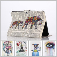 Stained Case For Samsung Galaxy Tab 3 10 1 New Arrival Color Mix PU Leather Flip