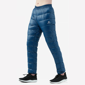Image 3 - TECTOP ultralight Duck Down Pants Men Winter Down Trousers Cold Wether Snow Camping Outdoor Light Warm Soft Thermal Pants Black
