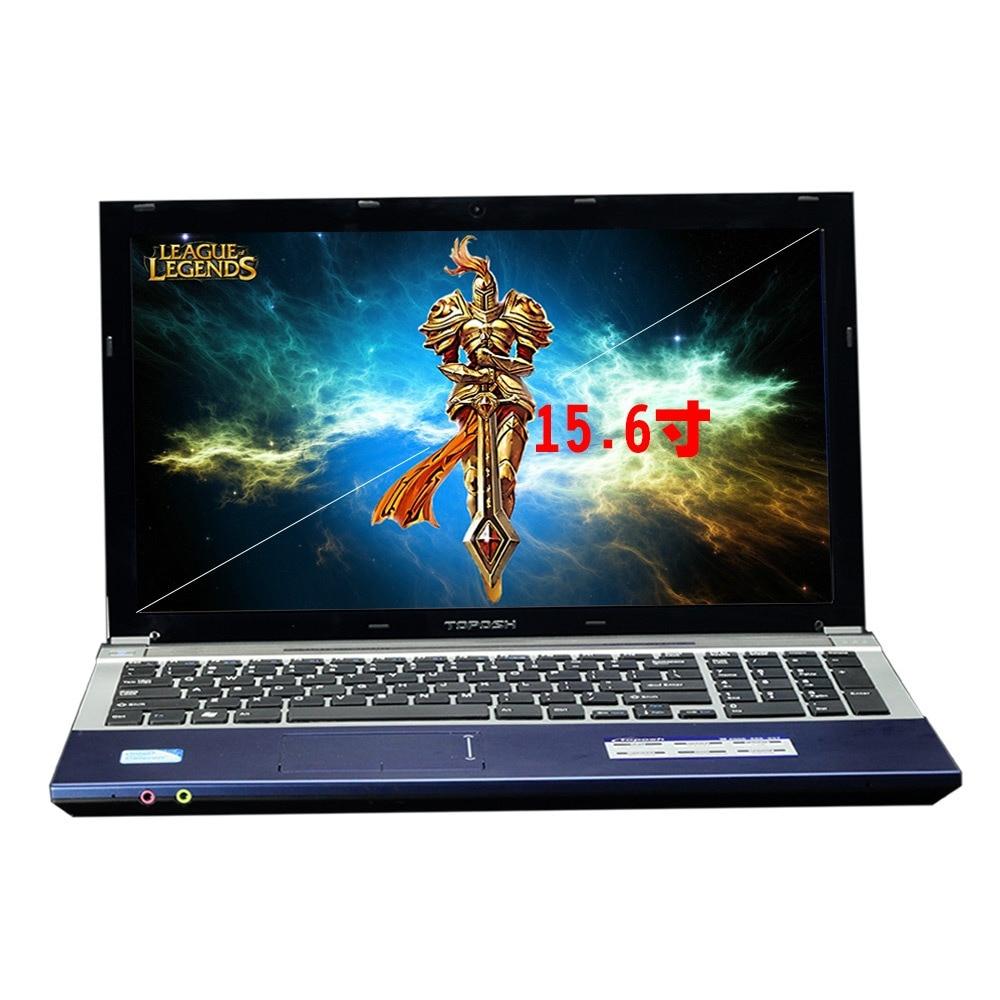 i7 1TB 8GB RAM Game Notebook 15.6 1000GB Fast CPU Intel Core i7 Windows10 Business PC Arabic Hebrew Spanish Russian Keyboard