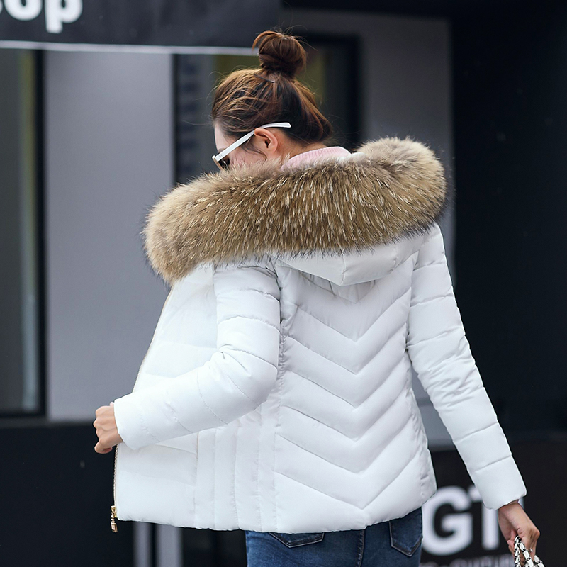 Winter Jacket Women parka New 2019 Fashion Warm Down Jacket Women black Artificial faux fake Fur Collar Women's Coat Jacket