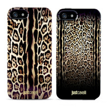 Luxury Puro Just Cavallis Leopard / Snake Print TPU Case Silicon Cover for Apple iphone 5 5S case phone capa celular