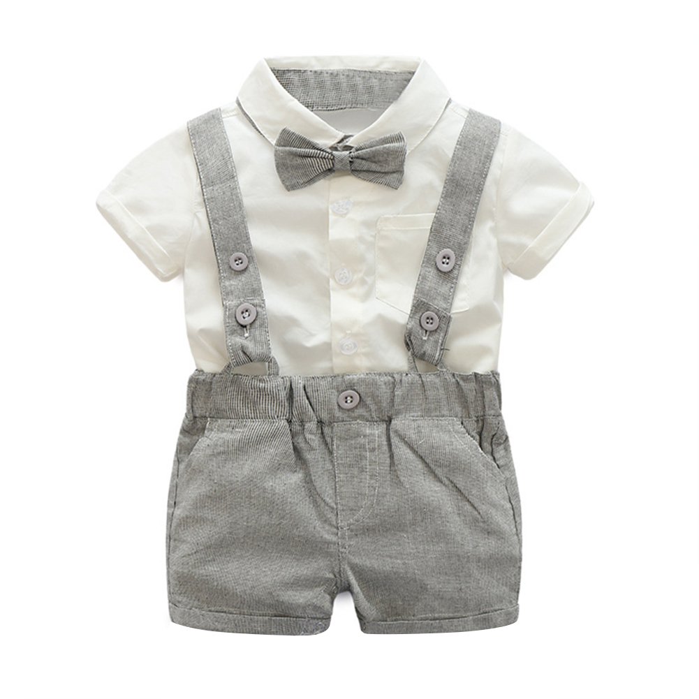 9b9e5f39c New Baby Boy Child Pants Suspenders Outfit Gentleman Suit Style ...