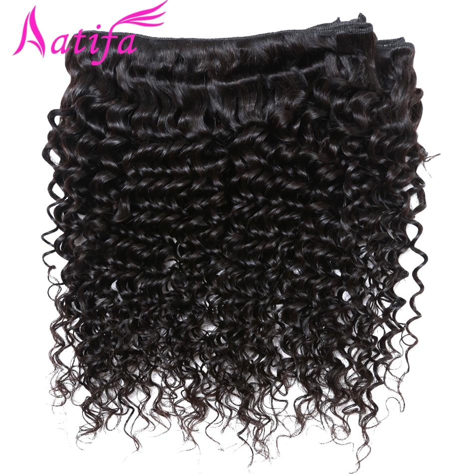 3 փաթեթ բրազիլական խորը ալիքի մազեր - Մարդու մազերը (սև) - Լուսանկար 5