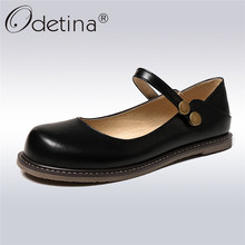 Odetina Spring Summer Mary Janes Shoes For Women Round Toe Comfatble Women Flats Fashion Girl Two Ways Wearing Shoes Big Size 43 цены онлайн