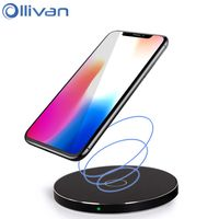 Ollivan Qi Wireless Charger For IPhone 10 X 8 Cellphone Quick Charging Adapter For Samsung S7