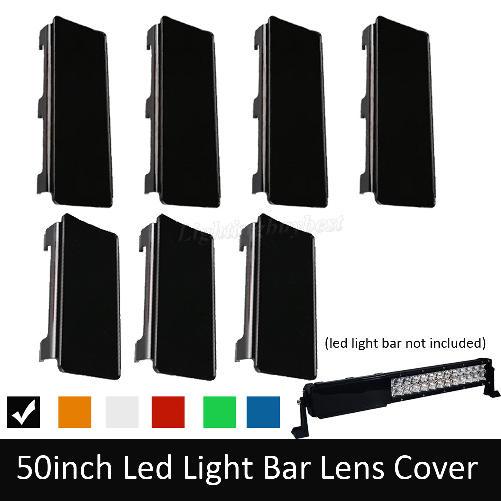 50 inch LED Light Bar Dust Proof Protective Lens Covers Black Amber Green Clear Red Green For Offroad ATV SUV TRUCK BOAT JEEP