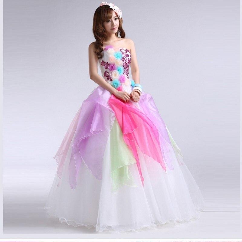 Barato vestidos quinceañera largo dulce 16 vestidos 2015 Mutilcolor ...