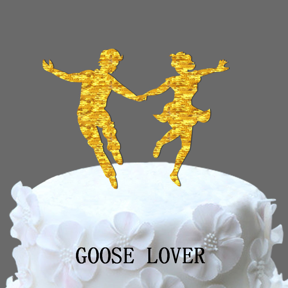 Funny Wedding Cake Topper, Lindy Hop Dancer Silhouette, Groom And ...